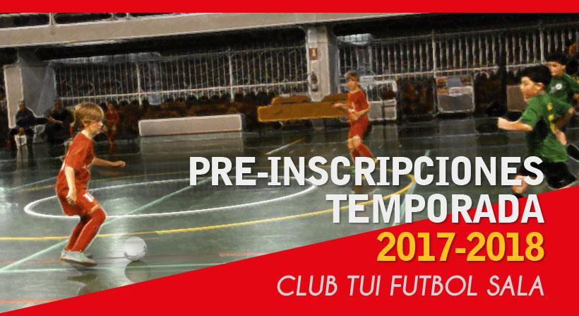 Preinscripcion Club Tui Futbol Sala 2017-2018